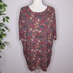 Lula Roe Irma Blouse Size Large Floral Fall Print